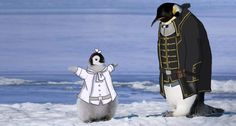 """booniek: """" doodle. Tracing of a famous penguin photo. """""""