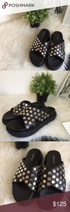 Sarkany platform studded sandals Purchased from a popular brand in argentina, purchased the wrong size, just want to get most of the amount spent back. Never worn, brand new. Im a us9 and they fit small. Size euro 39. Not jeffrey campbell. Jeffrey Campbell Shoes Sandals