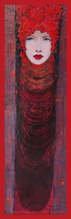 Richard Burlet, French painter *1957, Art Nouveau