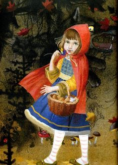 The Tales of Mother Goose by Nadezhda Illarionova - Red Riding Hood