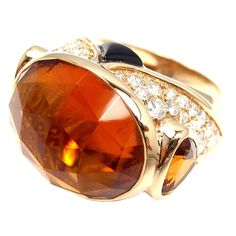1stdibs - MARINA B Diamond Citrine Onyx Yellow Gold Ring explore items from 1,700  global dealers at 1stdibs.com