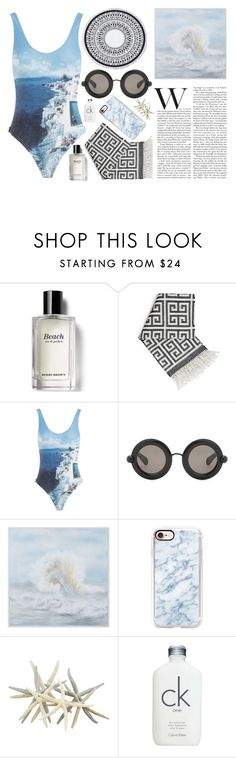 """""""Untitled #86"""" by bbernie ❤ liked on Polyvore featuring Bobbi Brown Cosmetics, Jonathan Adler, Orlebar Brown, Christopher Kane, WALL, Casetify, Calvin Klein and beach"""
