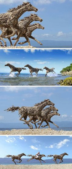 James Doran-Webb Driftwood Horses