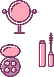 Clipart e Papeis Make up