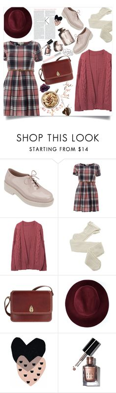 """plaid dress."" by arwitaa on Polyvore featuring Melissa, Yumi, Garance Doré, Fogal, Tula, Redopin, Seventy Tree, DK, Bobbi Brown Cosmetics and Faber-Castell"