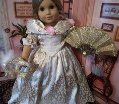 "VICTORIAN GALA DRESS & BONNET CLOTHES FITS 18"" AMERICAN GIRL ELIZABETH~FELICITY | eBay"