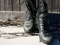 Vintage Combat Boots from Spain by BannedFromTV on Etsy