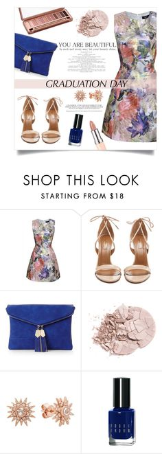 """""""Graduation Day"""" by anchilly23 ❤ liked on Polyvore featuring AX Paris, Aquazzura, Urban Decay, Urban Expressions, Kenza Lee and Bobbi Brown Cosmetics"""