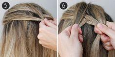 Inverted Fishtail Braid: Step 5-6