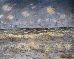 Rough Sea.1881 by Claude Monet