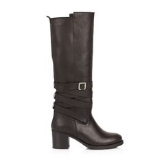 KACHOROVSKA / dark brown leather boots