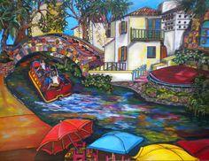 Arneson Theater downtown San Antonio Art Riverwalk  Artist Patti Schermerhorn