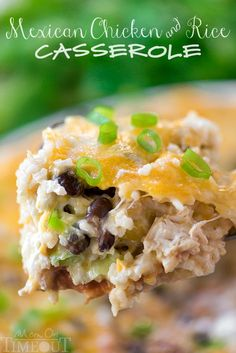 Like Mexican food? Then you've gotta try this Easy Mexican Chicken and Rice Casserole! Full of classic Mexican flavors in an easy weeknight package!
