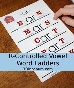 FREE R- Controlled Vowel Word Ladders