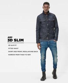 G-Star Raw Men's Slim-Fit Arc 3-d Cotton Jeans - Dk Aged Restored 32x32
