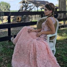 Pretty in pink! Shop the Blush Floral Appliqué Gown today photo by Spring Dresses, Prom Dresses, Wedding Dresses, 15 Birthday Dresses, Gowns For Rent, New Designer Dresses, Dress Rental, Blush Flowers, Pageant Gowns