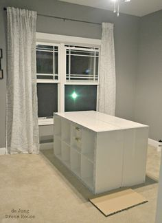 Do it yourself white craft desk how to build a custom craft desk craft table made of ikea expedits an un bored slab door and sterilite clip boxes lots of storage and room to work diy solutioingenieria Choice Image