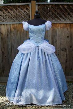 Cinderella New Swirl Gown Dress Custom Made - OMG!