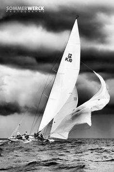 Dramatic 12 meter sailing