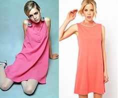 TWIGGY: Channel ~mod~ vibes with this 60s fashion icon costume this Halloween. This costume is super fun and you can reuse a bright and punchy shift dress over and over again. With some mod accessories, over the top lashes, and a deep-side part, this costume is set!