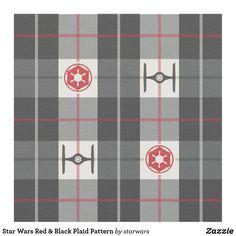 Star Wars Red & Black Plaid Pattern Fabric Star Wars Quilt, Star Wars Fabric, Pattern Fabric, Plaid Pattern, Star Wars Merchandise, Star Wars Baby, Star Wars Gifts, Red And Black Plaid
