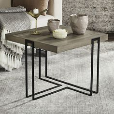 Safavieh Modern Contemporary End Table, Grey Other