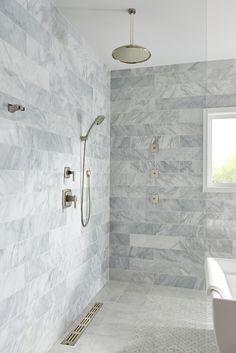 86 ultimate bathroom organization and decorating ideas models - Houz on kinal. Bathroom Design Layout, Rustic Bathroom Designs, Bathroom Design Small, Simple Bathroom, Bathroom Ideas, Rain Shower Bathroom, Master Bathroom, Black And White Tiles Bathroom, Minimalist Bathroom Design