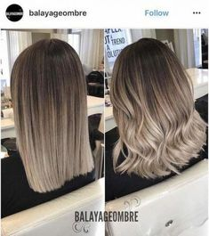 Ombre hair is still one of the hottest trends; from blonde ombre style to black - Ombre hair is still one of the hottest trends; from blonde ombre style to black Ombre hair is still one of the hottest trends; from blonde ombre style to black Ash Blonde Balayage, Blond Ombre, Ombre Hair Color, Blonde Color, Cool Hair Color, Brown Hair Colors, Ombre Style, Blonde Brunette, Brown Hair To Ash Blonde