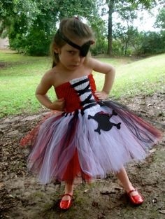 Pirate tutu dress toddler costume by Hollywoodtutu on Etsy, $63.99
