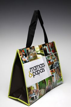 A Laminated Non-woven bag we made for Mamas  Papas. If you would like to create a bag like this then please visit our website: www.smartbagsboutique.com or give us a call on 020 8368 3800.