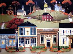 Folk Art Painting Ideas | Catherine Holman Folk Art: Painting House Details On Folk Art Scene