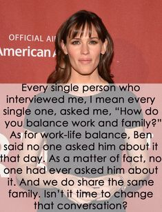 When Jennifer Garner highlighted how different the questions directed at her and husband Ben Affleck really are. | 31 Completely Badass Celebrity Responses To Sexism