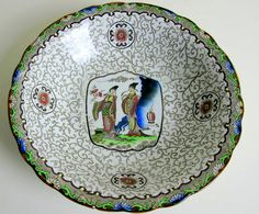 S.Hancock & Sons Stoke-on-Trent CORONAWARE  Bowl reproduction Chien-Lung 1736-1795 by BountyFromThePast on Etsy