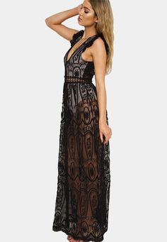 Black Backless Sleeveless Dress