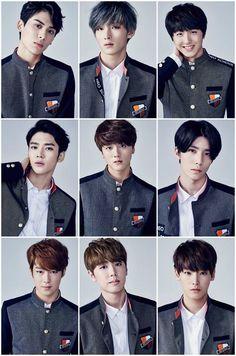 New Kpop group ~ K Pop, Click Your Heart, Seoul, Neoz School, Dream Cast, Sf9 Taeyang, Chani Sf9, Sf 9, School Dances