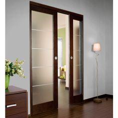 Syst me coulissant pour pose applique porte bois yoko casto cloisons vitr - Porte coulissante apparente ...