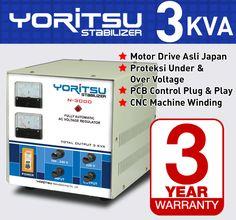 Stabilizer Yoritsu N-3000 kapasitas 3 KVA.  http:// hexta.co.id, email : sales@hexta.co.id, Telp : (021) 2925-5900, 2925-5905 (Huntings)