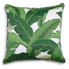 """Palm Beach Pillow #fresh and so """"clean #green #leaves Take me back to the Polo Lounge Beverly Hills Hotel"""