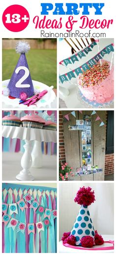 LOVE these ideas! Easy to do and Super Affordable! 13+ DIY Party Decorations and Ideas via RainonaTinRoof.com