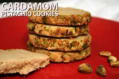 Cardamom Pistachio Cookies - by Don't Sweat The Recipe