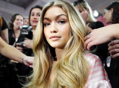 Gigi Hadid reveals the beauty secret she lives by backstage at the Victoria's Secret Fashion Show.