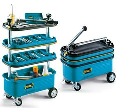 Hazet Collapsible Tool Trolley: This Toolbox Turns Into A Mobile Shelf