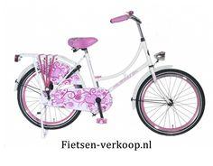 Omafiets Wit 22 Inch | bestel gemakkelijk online op Fietsen-verkoop.nl