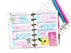 mini Happy Planner™ gratitude/happiness journal by mambi Design Team member Heather Kell | me & my BIG ideas