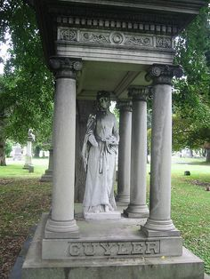The Bride - Woodlawn Cemetery, NYC (hand is missing and face covered in soot but there is a hint of red on the lips)
