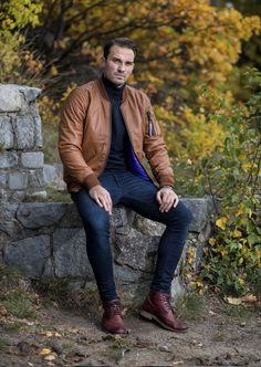 Brown Leather Bomber Jacket – Difficult by P