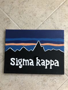 big little canvas Excited to share this item from my shop: patagonia sorority canvas Alpha Chi Omega, Kappa Alpha Theta, Phi Mu, Big Little Basket, Big Little Gifts, Big Gift, Box Jumps, Bid Day, Delta Zeta Canvas