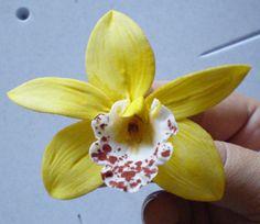 Gumpaste cymbidium orchid tutorial