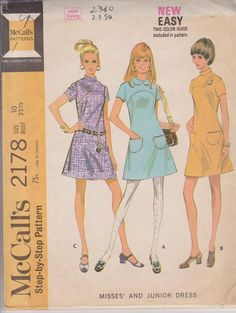1960s Vintage Sewing Pattern McCalls 2178 Misses by highcastle, $8.00