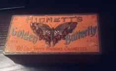 Hignetts Golden Butterfly Tobacco Tin